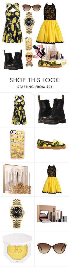 """Untitled #129"" by sexyjelly484 ❤ liked on Polyvore featuring Dr. Martens, Casetify, Dolce&Gabbana, Sephora Collection, Bill Blass, Rolex, Puma and Burberry"