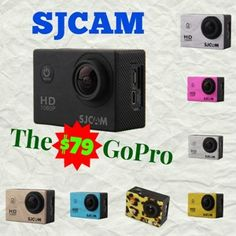 There is a sports action camera with the same specs and features of a $350 GoPro and it sells forunder $80 – with many accessories included! Say hello to the SJCAM SJ4000. For a few dollars… Gopro Hd, Say Hello, Specs, Usb Flash Drive, Action, Accessories, Group Action, Usb Drive