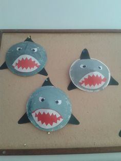 Haai uit papieren bordje Sea Crafts, Fish Crafts, Plate Crafts, Toddler Crafts, Crafts For Kids, Arts And Crafts, Summer Fun For Kids, Art For Kids, Classroom Crafts