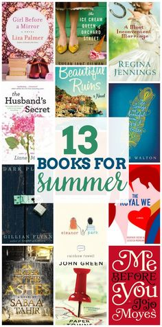 13 Books for Summer - Fill up your summer reading list for those perfect warm, leisurely days with these book suggestions!
