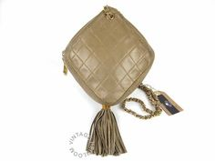 vintage Chanel Rare Diamond Shaped Bag with Tassel