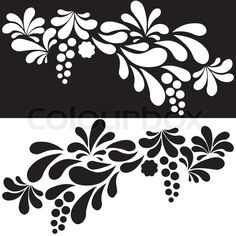 Stock vector of 'Set of white and black silhouettes arc drop design element'