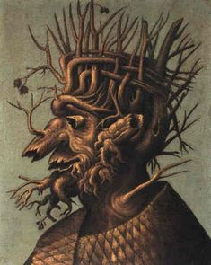 Winter by Giuseppe Arcimboldo  #arcimboldo #paintings #art