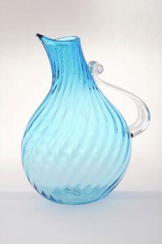 Blenko glass pitcher
