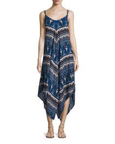 TD0JN Bishop + Young Paisley-Print Maxi Dress, Blue Multi