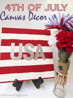 This DIY USA canvas is perfect to make for the 4th of July! I absolutely love it!
