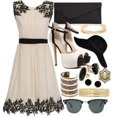 Black Lace & Nude by carolineas on Polyvore featuring polyvore, fashion, style, Little Mistress, Accessorize, BCBGeneration, Liz Claiborne, Vince Camuto, MANGO, Ray-Ban and River Island