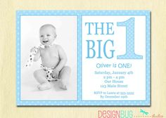 Items Similar To The Big One First Birthday Baby Boy Invitation