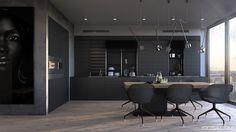 Cucina nera di design 03
