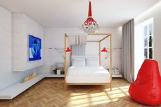 la camera da letto per una coppia (Russia, Volgograd)