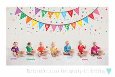 7 babies and 7 cakes ! Here it is finally.the group picture of 7 gorgeous baby friends at their birthday cakesmash recently. 1st Birthday Photoshoot, Baby 1st Birthday, Cake Smash Photography, Love Photography, 7 Cake, Baby Friends, Group Pictures, Rainbow Baby, Breastfeeding