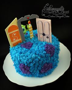 Monsters Inc Cake by Always with Cake, via Flickr