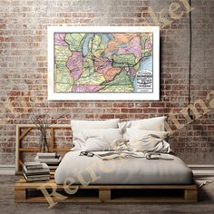 Map of the Pittsburg sic Fort Wayne & Chicago by RetroPrintmaker