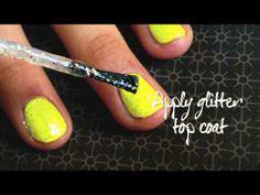 Princess Nail Art Tutorial: Neon Sparkles with Swarvoski Crystals from Glam Nail Studio