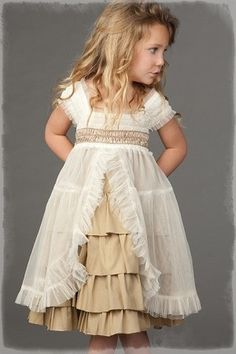 ❀ Fanciful Flower Girls ❀ dresses & hair accessories for the littlest wedding attendant :-)  prairie wedding