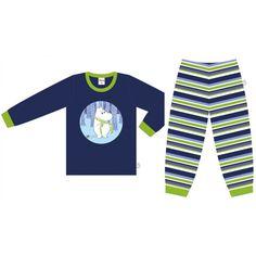 pojalle kaksi osainen pyjama, joko lyhyt tai pitkähihasena. koko 100+