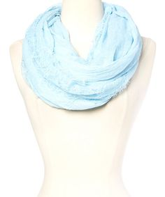 Another great find on #zulily! Sky Lace Infinity Scarf #zulilyfinds