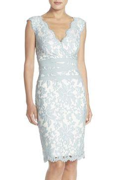 Tadashi Shoji Embroidered Lace Sheath Dress (Regular & Petite) | Nordstrom