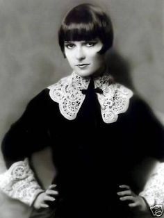 louise brooks lace collar