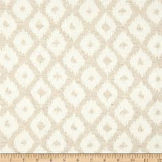 KasLen Sheraton Diamond Jacquard Natural from @fabricdotcom  This medium weight jacquard fabric is perfect for window treatments, accent pillows and light upholstery. Colors include white and beige.