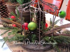 #Natural #Christmas #Hoe and Shovel: Merry and Bright