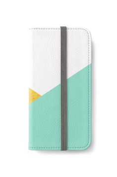 'Gold & mint geometry' iPhone Wallet by artbyjwp by society6 #phonewallet #phonecase #goldandmint #phoneaccessories #giftideas