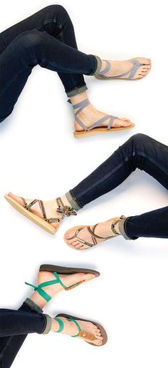 Sseko ribbon sandals can be tied & styled in hundreds of ways. Simply choose your sandal base color, then your ribbons, and an accessory if you choose! // Every sandal helps to send a girl in East Africa to college.