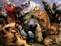 "Peter Paul Rubens, ""The Tiger Hunt"""