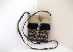 Small Shoulder Bag  Cross Body Bag   Fringe Purse  by ClassABags, $39.00