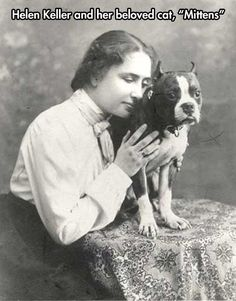 Helen Keller's pet // funny pictures - funny photos - funny images - funny pics - funny quotes - #lol #humor #funnypictures