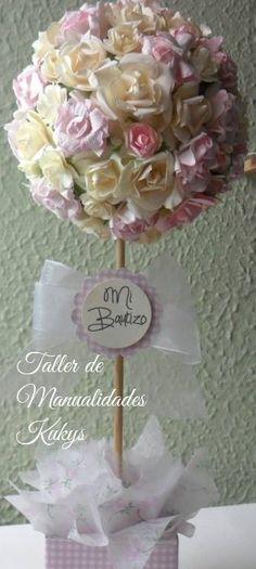 Centros De Mesa Bautizos, Bodas 15 Años - $ 230.00 en MercadoLibre