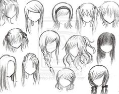 How to Draw Anime Hairstyles for Girls | anime girl hairstyle. Anime girl hairstyles by