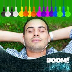 Un excelente sonido a tu alcance, #AudífonosBásicosDeColores #BOOM.