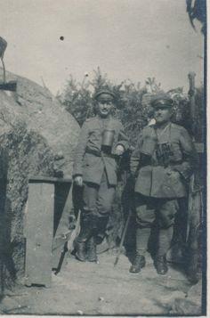Hauptmann Lohner und Leutnant Memmel am Südstein, Juli 1918