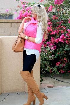 Fashionably Stocked ... the perfect pink vest from @leboutiqueshop