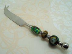 Besteck - Steakmesser mit Glasperlengriff !Lampwork! - ein Designerstück von Feuerperlen-und-Co bei DaWanda