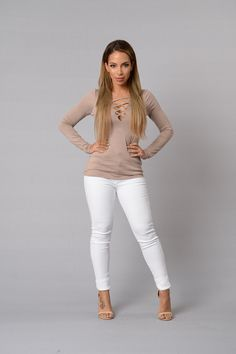 First Date Top - Taupe