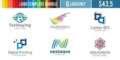 Logo Templates Bundle Templates **Logo Templates Bundle **Suitable for** : Company Logo, Business, Office, Studio, Organizat by Acongraphic Superhero Logo Templates, Free Logo Templates, Business Brochure, Business Card Logo, Photography For Sale, Corporate Branding, Modern Logo, School Design, Free Design