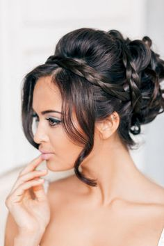 Wedding Hairstyles ~ Plaid updo & neutral make-up #WeddingPlanning #HappyPlanningBGP