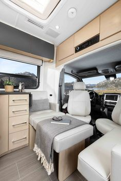 View photos of the Unity Class C RV by Leisure Travel Vans. See photos, videos, floorplans and more of the luxurious Unity, built on the Mercedes Sprinter Cab Chassis. Van Conversion Layout, Sprinter Van Conversion, Van Conversion Plans, Ford Transit Camper Conversion, Leisure Travel Vans, Rv Travel, Motorhome, Murphy Bed Plans, Murphy Beds