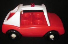 Little Tikes Toddle Tots Fire Truck Rescue Red Car Only Vintage 1980s Rare #LittleTikes