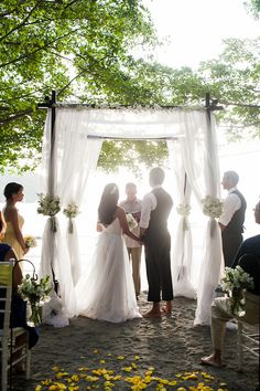 Barefoot beach wedding- Costa Rica
