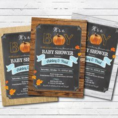 Hey, I found this really awesome Etsy listing at https://www.etsy.com/listing/466950493/fall-baby-shower-invitation-rustic