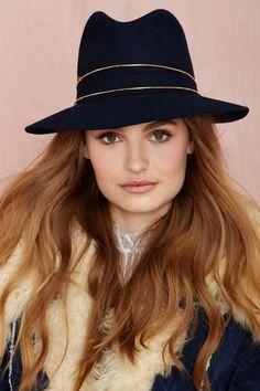 Janessa Leone George Wool Hat - Hair + Hats