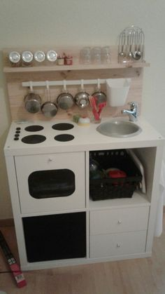 cuisiniere fabrication maison à partir d'un meuble kallax ikea
