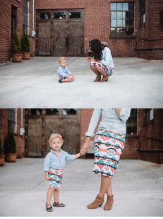 Mommy and me matching Pencil Skirts Navajo Cream