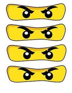 High-quality PNG printables - NinjaGo Eyes Prints Free NinjaGo Party Printables 8 different sizes, 300 DP...