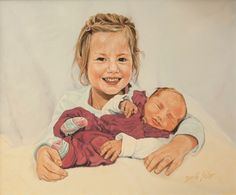 Sisters, oil on canvas 40x50, a painter from the #lovingvincent team, http://www.dariasolar.eu/   #sisters