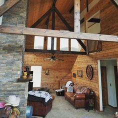 Our pine fineline is a great option for interior walls and ceilings, especially those found inside a rustic cabin like this one! Diy Cabin, Knotty Pine, Cedar Siding, Side Wall, Interior Walls, Ceilings, Shed, Rustic, Projects