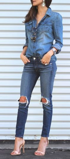 Dressed up denim